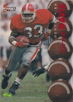 1995 Classic Five Sport - Red Die Cuts #91 Terrell Davis Front