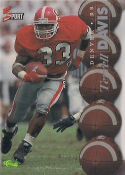 1995 Classic Five Sport - Silver Die Cuts #91 Terrell Davis Front