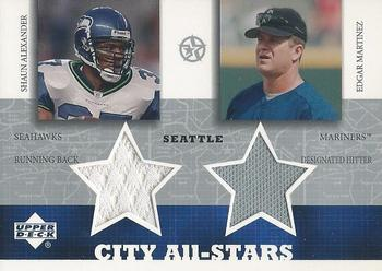 2002-03 UD SuperStars - City All-Stars Dual Jersey #SAEM Shaun Alexander / Edgar Martinez Front