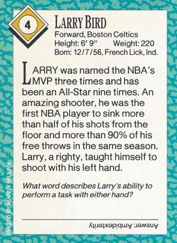 1989 Sports Illustrated for Kids #4 Larry Bird Back