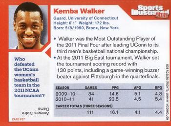 2011 Sports Illustrated for Kids #37 Kemba Walker Back