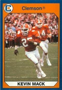 1990 Collegiate Collection Clemson #2 Kevin Mack Front