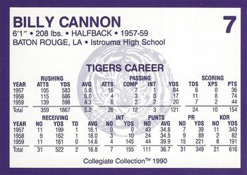 75f19682499 1990 Collegiate Collection LSU  7 Billy Cannon Back