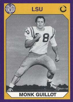 f074e54d931 Football. 1990 Collegiate Collection LSU  132 Monk Guillot Front