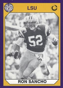 92152b6680b Football. 1990 Collegiate Collection LSU  135 Ron Sancho Front