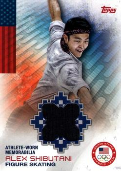 2014 Topps U.S. Olympic and Paralympic Team & Hopefuls - Relics #OR-AS Alex Shibutani Front