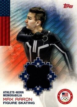 2014 Topps U.S. Olympic and Paralympic Team & Hopefuls - Relics #OR-MA Max Aaron Front