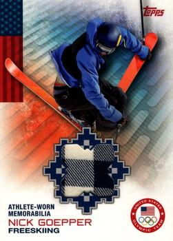 2014 Topps U.S. Olympic and Paralympic Team & Hopefuls - Relics #OR-NG Nick Goepper Front