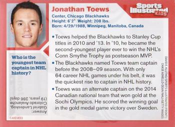 2014 Sports Illustrated for Kids #313 Jonathan Toews Back