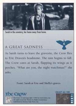 1994 Kitchen Sink The Crow #6 A Great Sadness Back