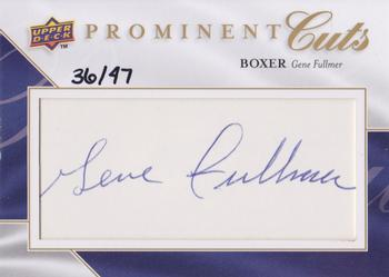 2009 Upper Deck Prominent Cuts - Prominent Cuts Autographs #PC-GN Gene Fullmer Front