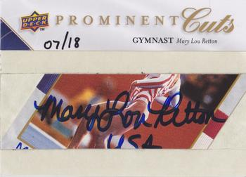 2009 Upper Deck Prominent Cuts - Prominent Cuts Autographs #PC-MLR Mary Lou Retton Front