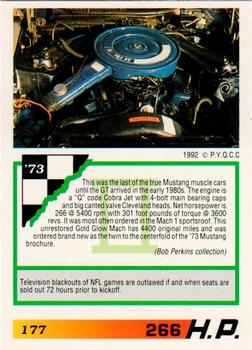 1992 Muscle Cards II #177 1973 Ford Mustang Mach 1 Back