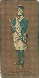 1888 Kinney Tobacco Military (N244) #NNO American Light Infantry, 1782 Front