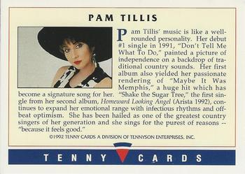 1992 Tenny Super Country Music #NNO Pam Tillis Back