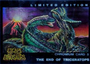 1993 Dynamic Escape of The Dinosaurs - Chromium #5 The End of Triceratops Front