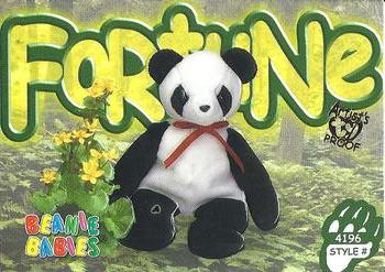 1999 Ty Beanie Babies III - Artist s Proof  88 Fortune the Panda Front cea43557950