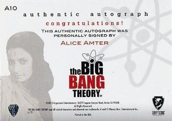 Alice Amter Gallery Trading Card Database Alice amter from the big bang theory stops by the apodcalyptic studio to discuss acting, birmingham, los angeles, being mrs. trading card database