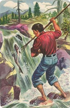 1956 Quaker Oats Sgt. Preston of the Yukon (F279-15) #29 Spearfishing for Salmon Front