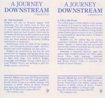 1990 Brooke Bond A Journey Downstream (Double Cards) #9-10 Yellow Flag / The Badger Back