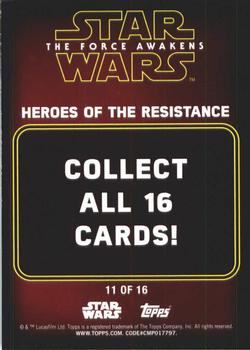2016 Topps Star Wars Force Awakens 2 Heroes of the Resistance 11 Admiral Statura