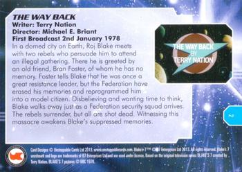 2013 Unstoppable Cards: Blakes 7 Series 1 #2 Federation Guards Back