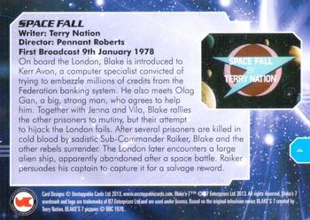 2013 Unstoppable Cards: Blakes 7 Series 1 #4 Sabotage… Back