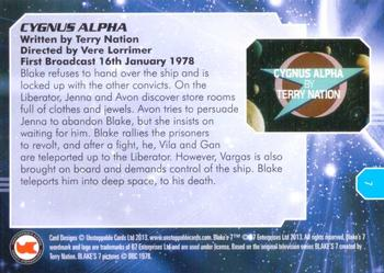 2013 Unstoppable Cards: Blakes 7 Series 1 #7 Gan on Cygnus Alpha Back