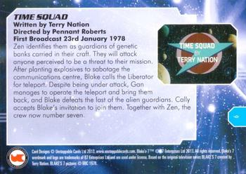 2013 Unstoppable Cards: Blakes 7 Series 1 #9 Hiding Back