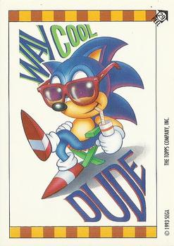 1993 Topps Sonic the Hedgehog - Stickers #29 Dr. Robotnik is a brilliant mad Front