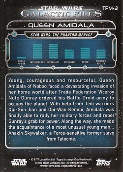2017 Topps Star Wars Galactic Files: Reborn #TPM-3 Queen Amidala Back
