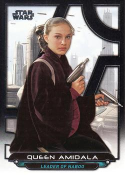 2017 Topps Star Wars Galactic Files: Reborn #TPM-3 Queen Amidala Front