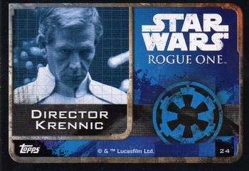 2016 Topps Star Wars Rogue One (UK Version) #24 Director Krennic Back