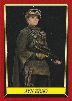 Star Wars Rogue One Mission Briefing Commemorative Patch Card MP-1 Jyn Erso