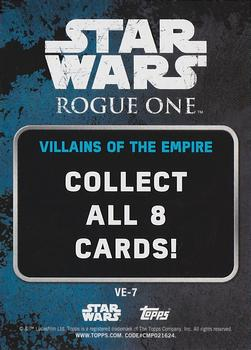 2016 Topps Star Wars Rogue One Series 1 - Villians of the Empire #VE-7 C2-B5 Back