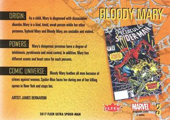 2017 Fleer Ultra Marvel Spider-Man #3 Bloody Mary Back