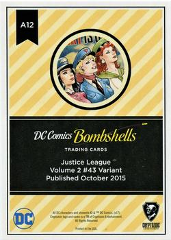2017 Cryptozoic DC Comics Bombshells #A12 Justice League - Volume 2 #43 Back