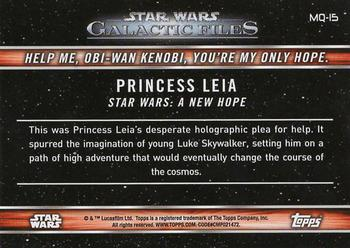 2017 Topps Star Wars Galactic Files Reborn Famous Quotes Non