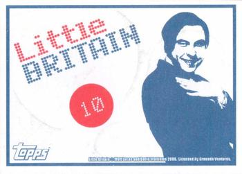 2006 Little Britain Collector Cards - Stickers #10 Andy Pipkin Back