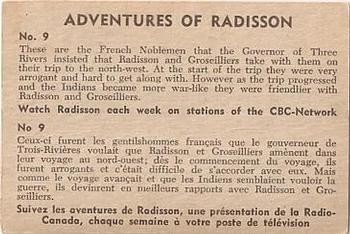 1957 Parkhurst Adventures of Radisson (V339-1) #9 These are the French Noblemen Back