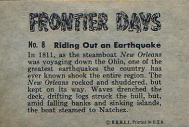 1953 Bowman Frontier Days #8 Riding Out an Earthquake Back