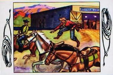 1953 Bowman Frontier Days (R701-5) #9 Relay Front