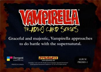 2011 Breygent Vampirella - Album #1 Graceful and Majestic, Vampirella Approaches Back