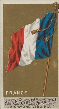 1887 Allen & Ginter Flags of All Nations (N9) #NNO France Front