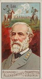 1888 Allen & Ginter Great Generals (N15) #NNO Robert E. Lee Front