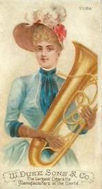1888 W. Duke, Sons & Co. Musical Instruments (N82) #NNO Tuba Front