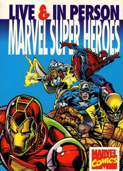 1995 Marvel Super Heroes Live & In Person #NNO Marvel Super Heroes Live & In Person Front