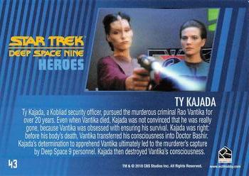 2018 Rittenhouse Star Trek Deep Space Nine Heroes & Villains #43 Ty Kajada Back