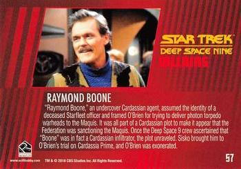 2018 Rittenhouse Star Trek Deep Space Nine Heroes & Villains #57 Raymond Boone Back