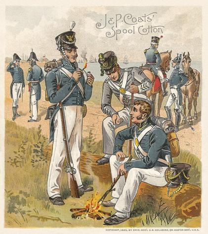 1895 J & P Coats Uniforms of the U.S. Army (H606) #NNO 1813-1821 West Point Cadets Front